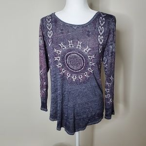 Lucky Brand long sleeve top size M